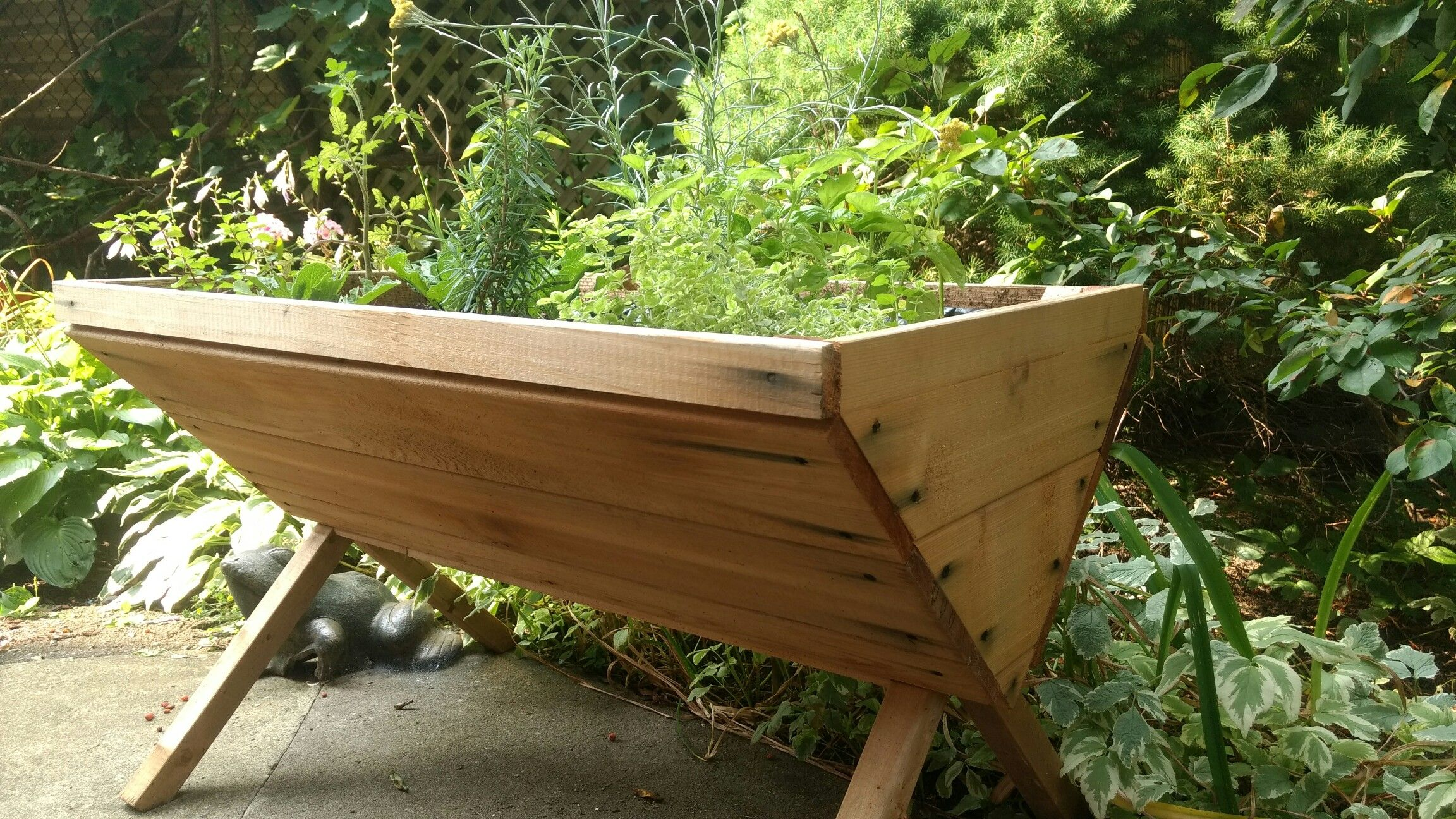 Custom Cedar Planter By Simardone Design
