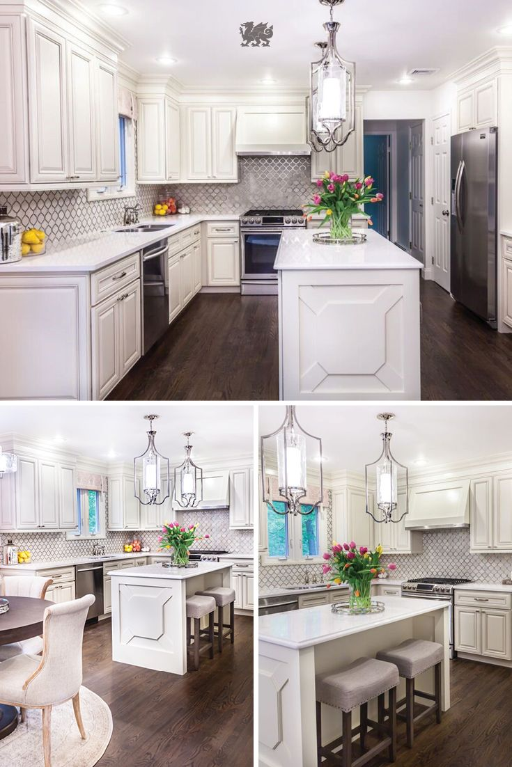 Feminine Elegance Comes To Life In This Bright Kitchen Featuring