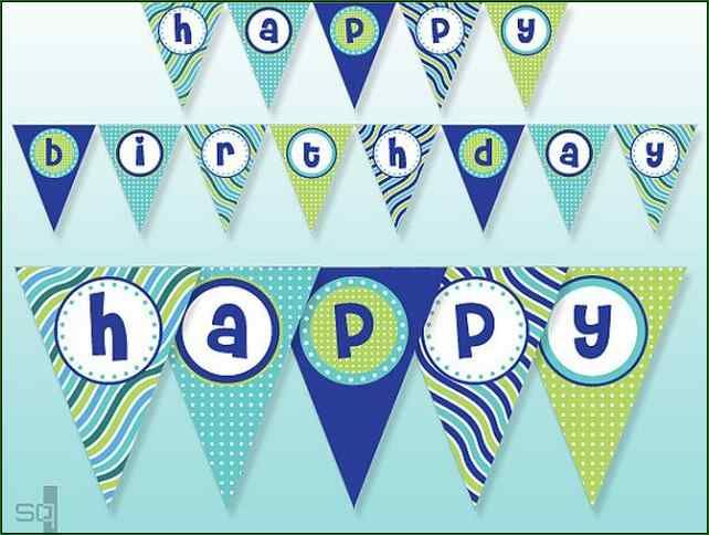 free printable happy birthday banner boy birthday home