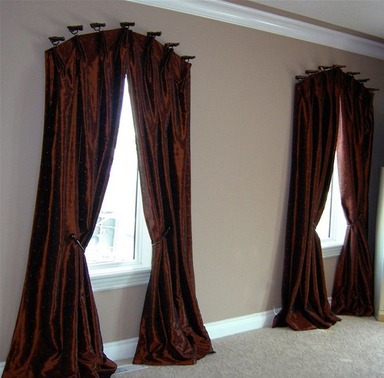 curved curtain rod for arched window   curtains   Pinterest   Arched ...