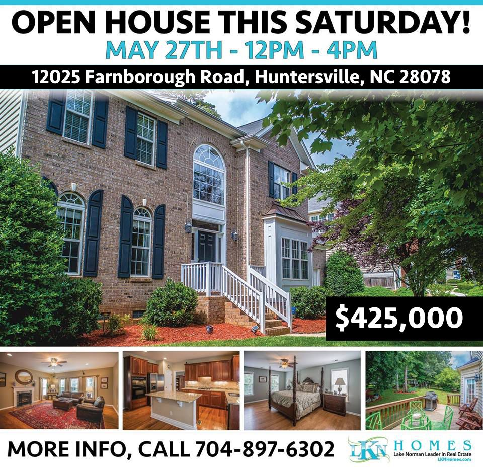 Under Contract 12025 Farnborough Road Huntersville Nc 28078 House Styles Open House House