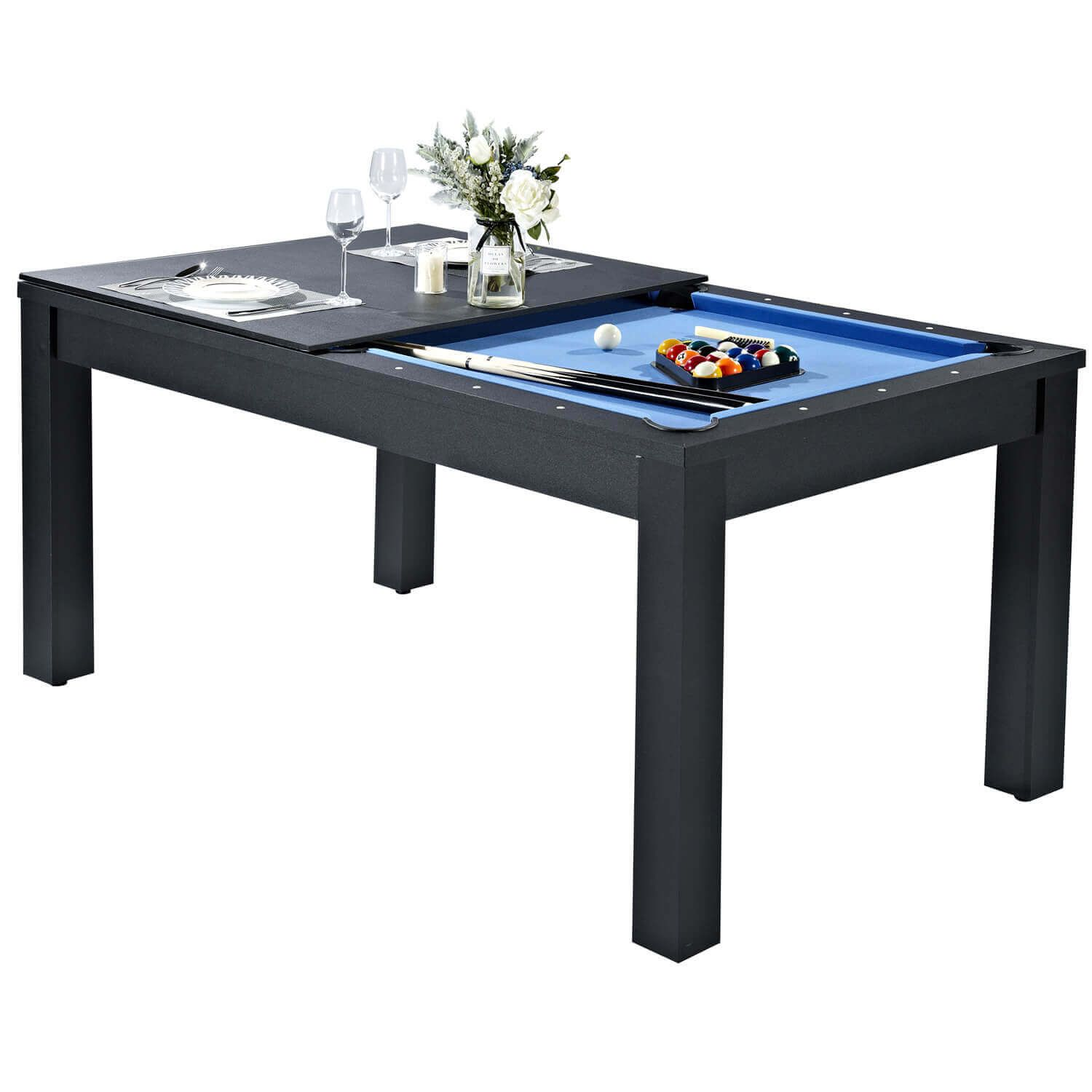 Pureline 6ft Pool Dining Table With Table Tennis Top Pool Table