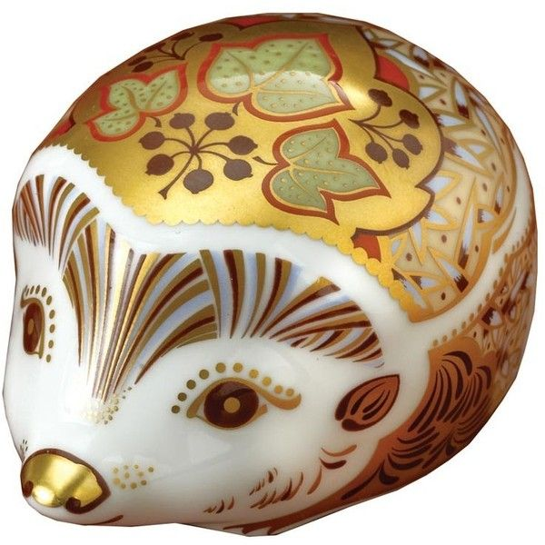 Ivy Hedgehog Paperweight (150 AUD) ❤ liked on Polyvore featuring home, home decor, office accessories and bone china