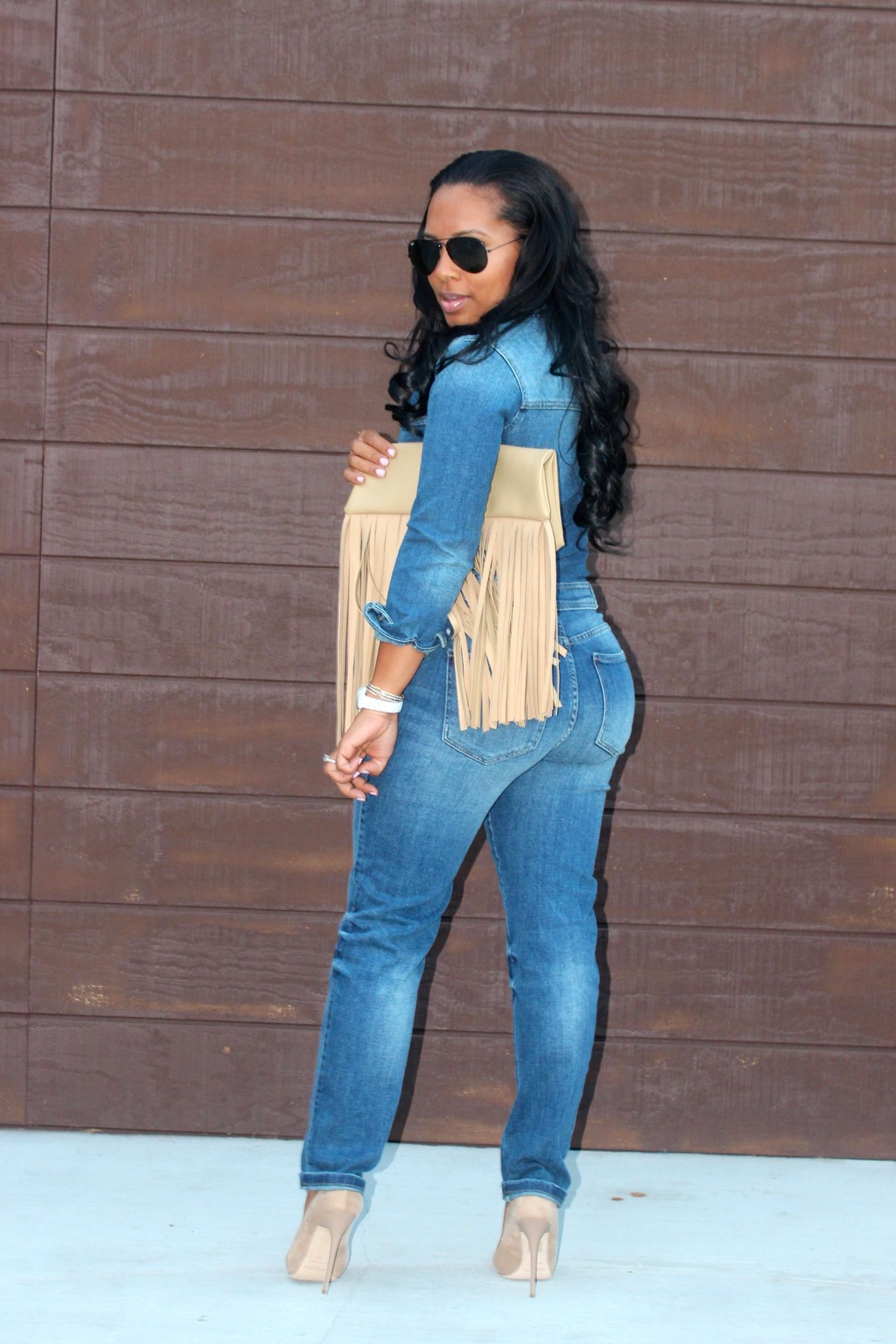 black women blogs denim jumpsuit | Throw it on and go. | Pinterest ...