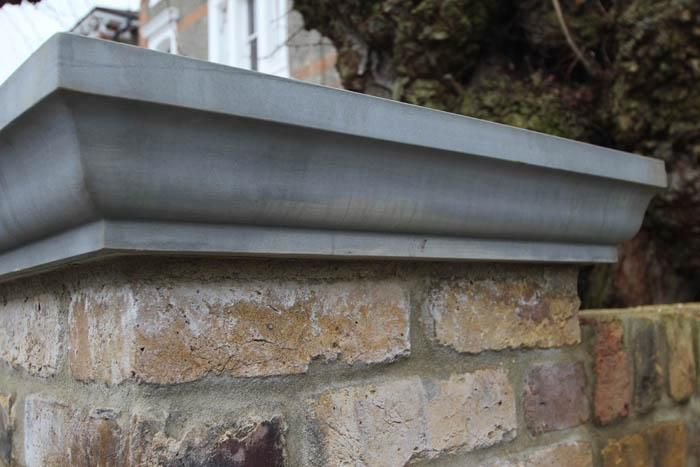 Grey Yorkstone Pier Caps Can Be Made To Any Size And Style Giving A Decorative Finish To Walls Piers And Pillars Driveway Entrance Yard Gate House Front