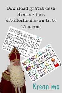 Photo of Sinterklaas Countdown-Kalender! Drucken Sie es aus und färben Sie es aus. – Kreanimo