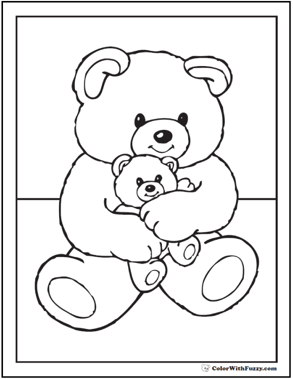 55 Birthday Coloring Pages Printable And Customizable Teddy Bear Coloring Pages Teddy Bear Drawing Cartoon Coloring Pages