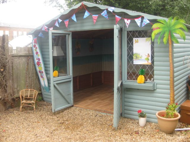 Turn a shed into a clubhouse for the boys... get rid of ...