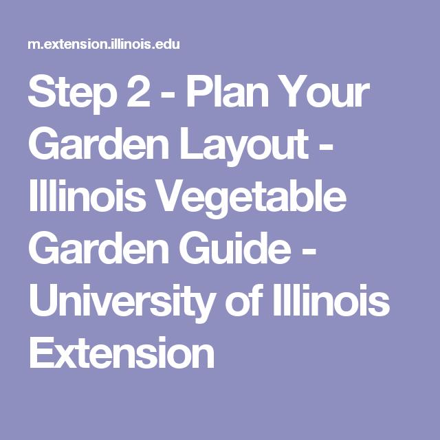 Step 2 Plan Your Garden Layout Illinois Vegetable Garden Guide
