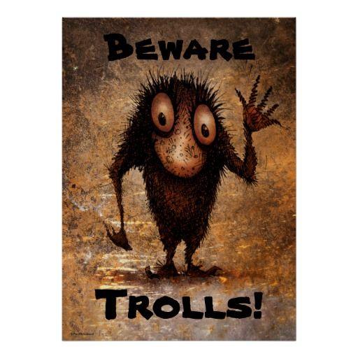 Funny Little Troll Poster art - personalize it!