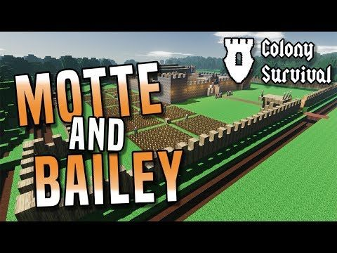 Motte And Bailey Build Survive And Rule A Huge Kingdom In Colony Survival Game Youtube Survival Games Survival Pirate Games