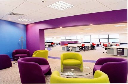 Purple Office Interior Design Ideas
