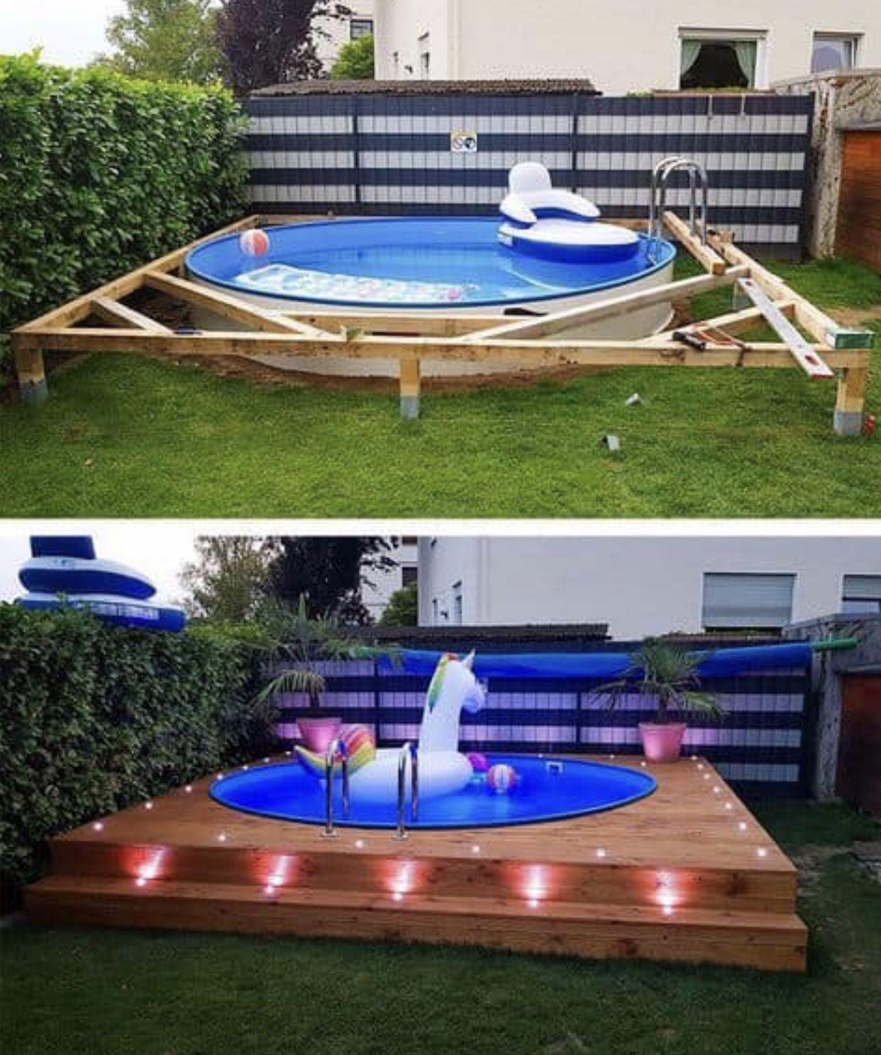 Pool ideas | Diy swimming pool, Backyard decor, Backyard