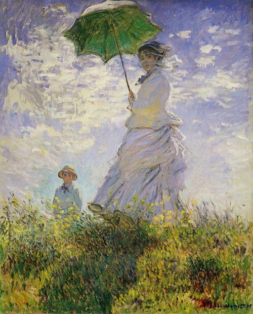 Claude Monet Der Spaziergang Frau Mit Sonnenschirm 1875 Ol