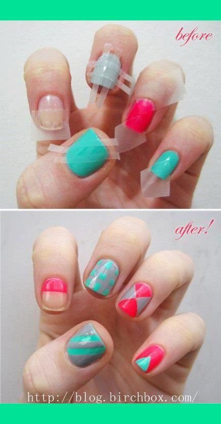 Tricks for nail art! So going to do this! x | Nails nails nailsssss ...