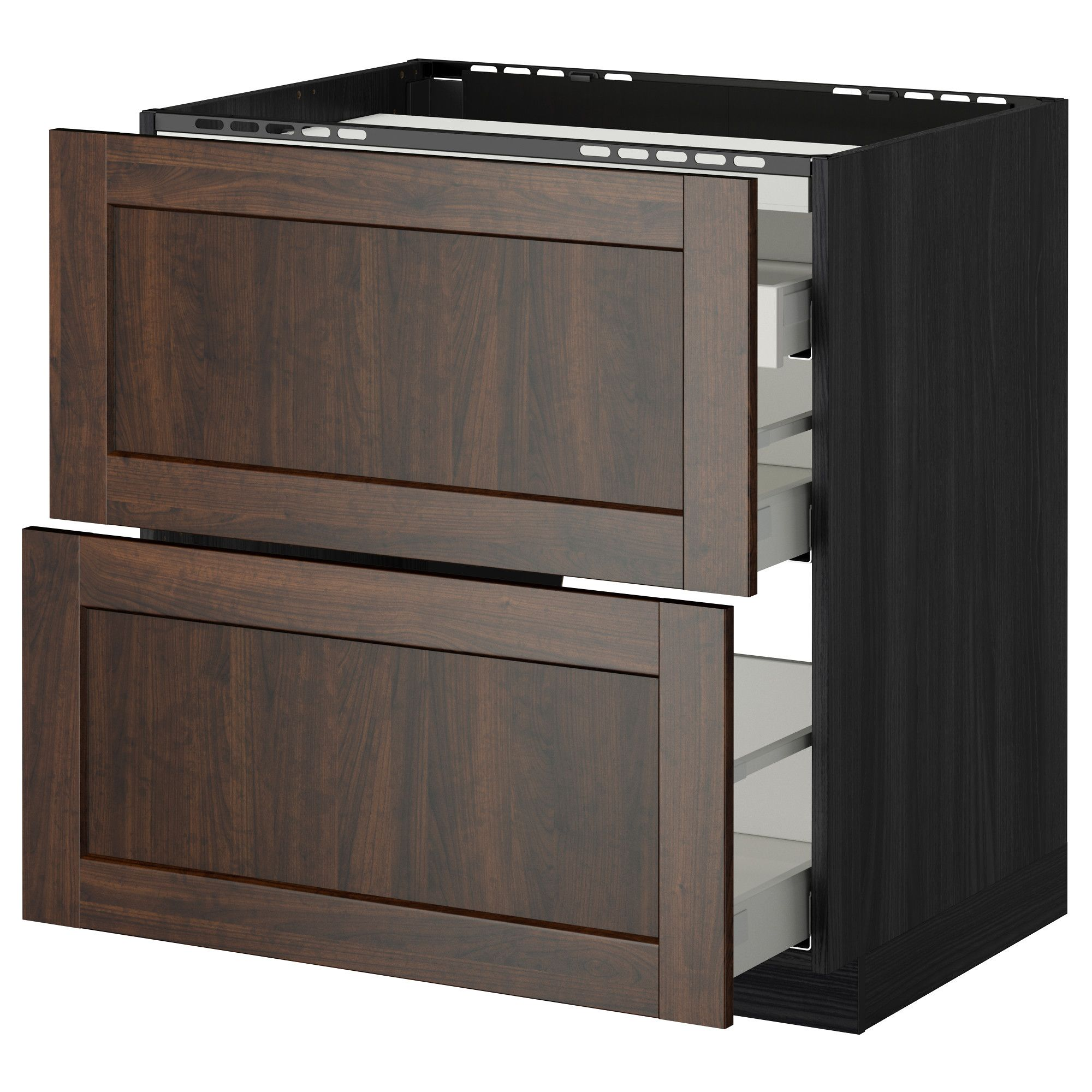 IKEA Eneryda 503.475.17 Cup Cabinet Pull Black 2 Pack Size 3 1//2