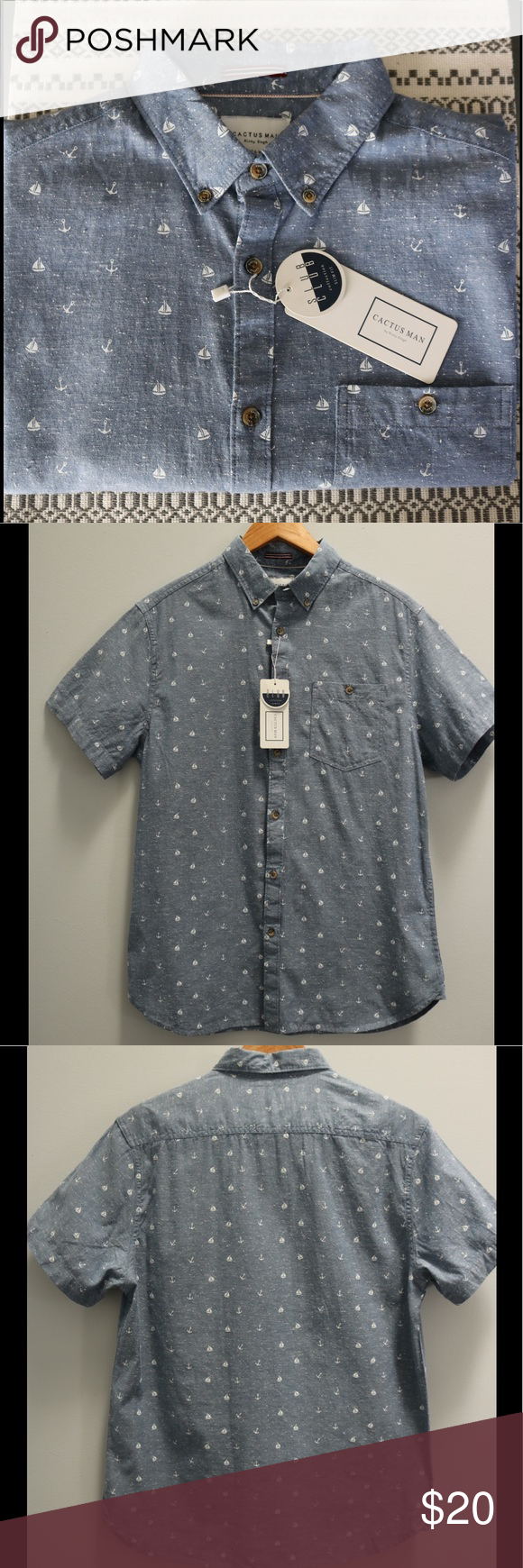 Cactusman Button Down Shirt Nwt My Posh Picks Casual Button Down
