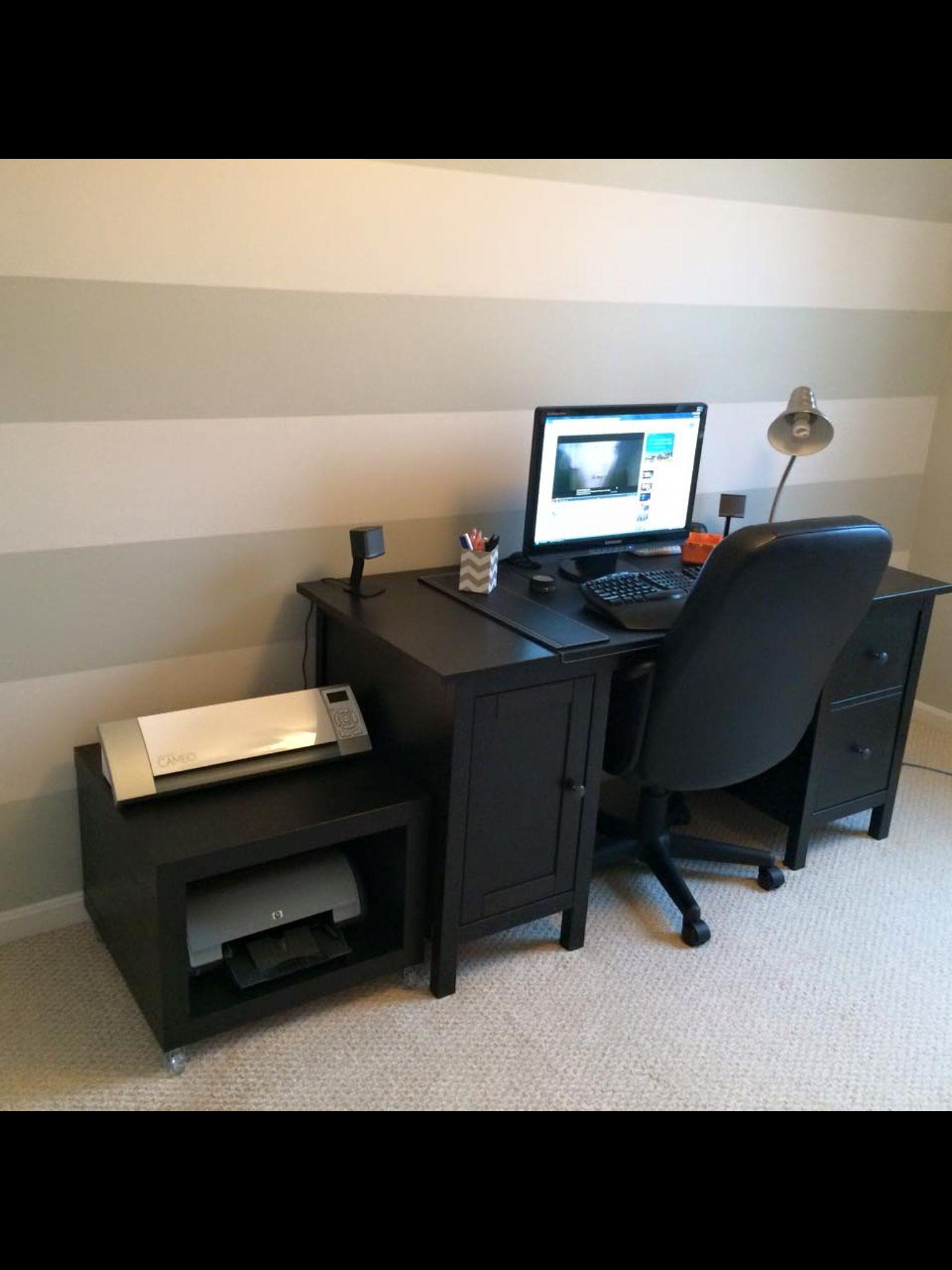 home office craft room ikea hemnes desk ikea lack side. Black Bedroom Furniture Sets. Home Design Ideas