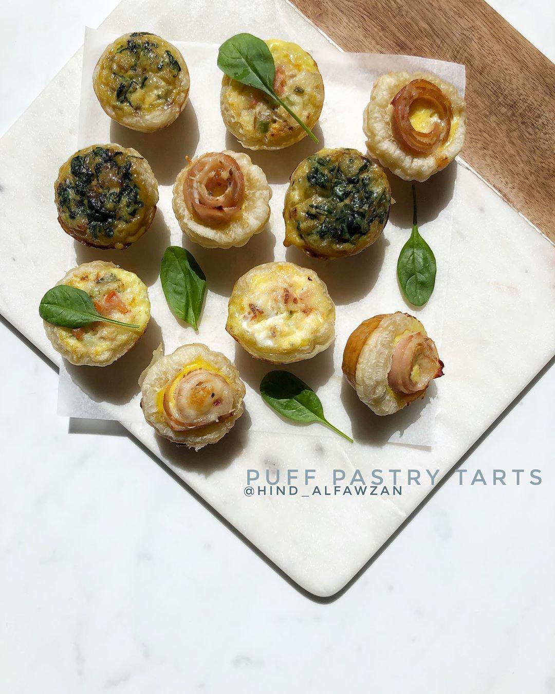 هند الفوزان On Instagram قوالب البف باستري المالحة بالخطوات التفصيلية على السناب Hind Alfawzan فكرة لذيذة لوجبة فطور متأخرة أو Recipes Food Breakfast