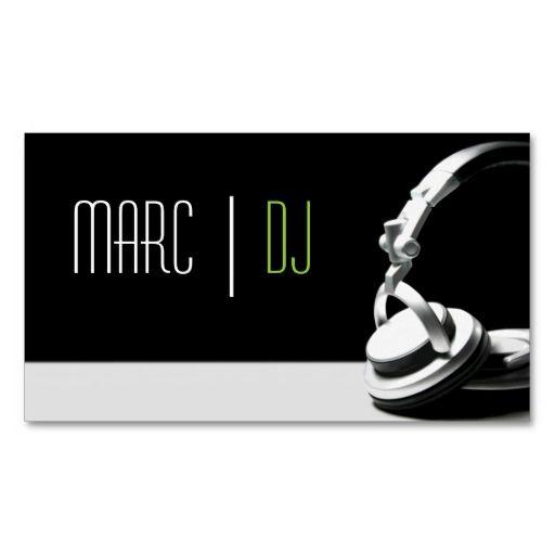 Dj music club entertainment business card dj music dj music club entertainment business card reheart Gallery