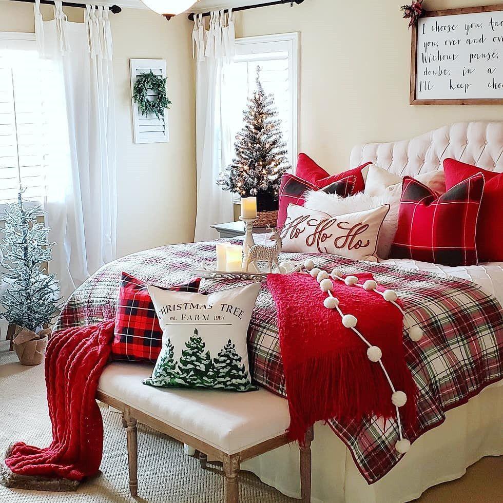 56 Best Christmas Bedroom Decor Ideas For A Positively Jolly Night Sleep Christmas Room Decor Christmas Decorations Bedroom Holiday Room Decor