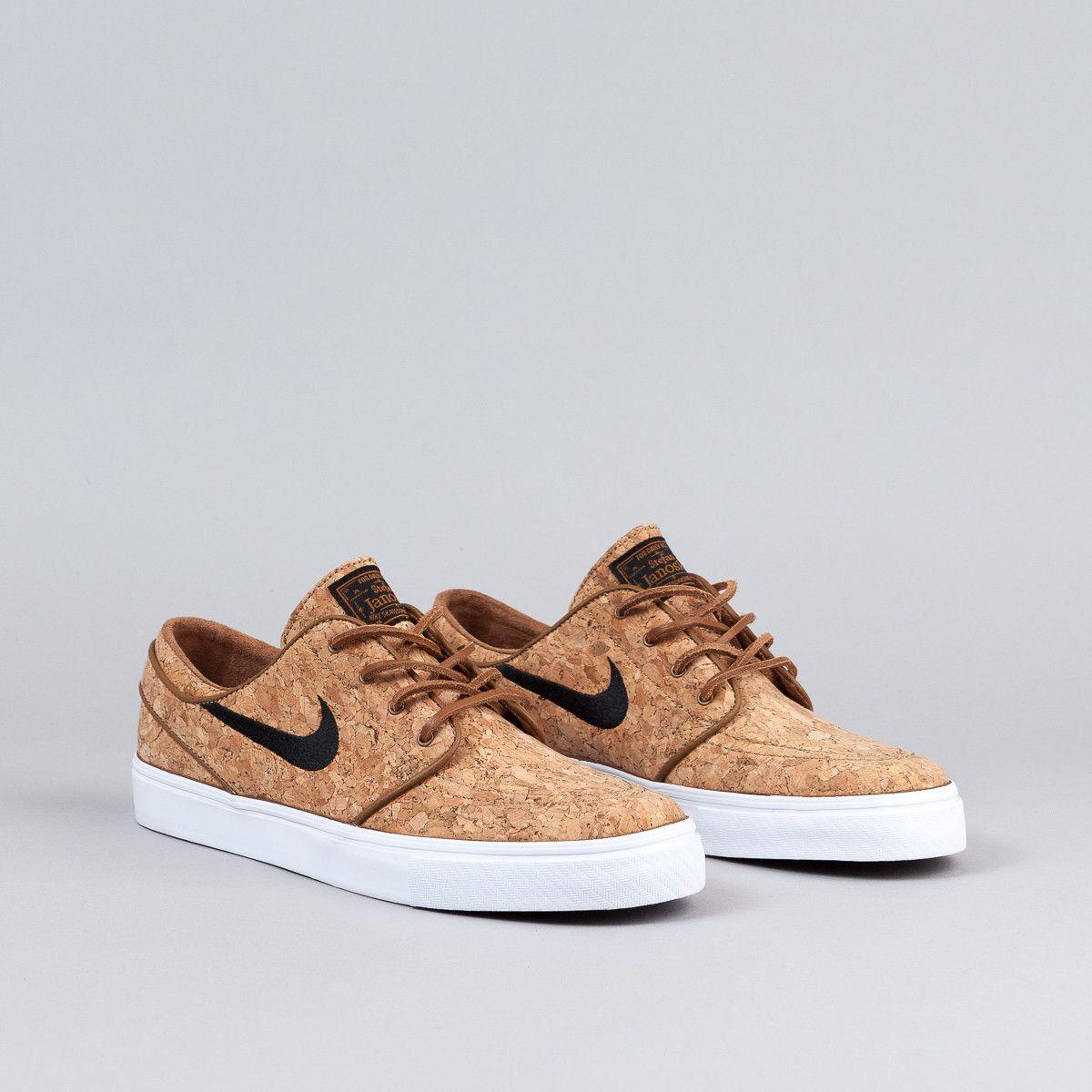 ed7b911235aba Nike SB Stefan Janoski Elite Shoes (Cork) - Ale Brown   Black   White
