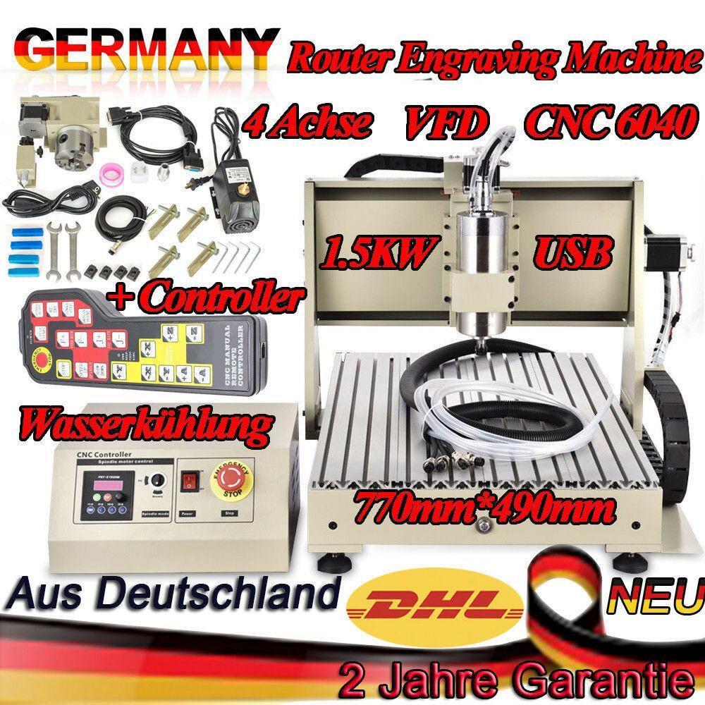 Ebay Sponsored Usb 4 Achse Cnc 6040 Router Graviermaschine Fräsmaschinecontroller 1 5kw Dhl Router Usb Cnc