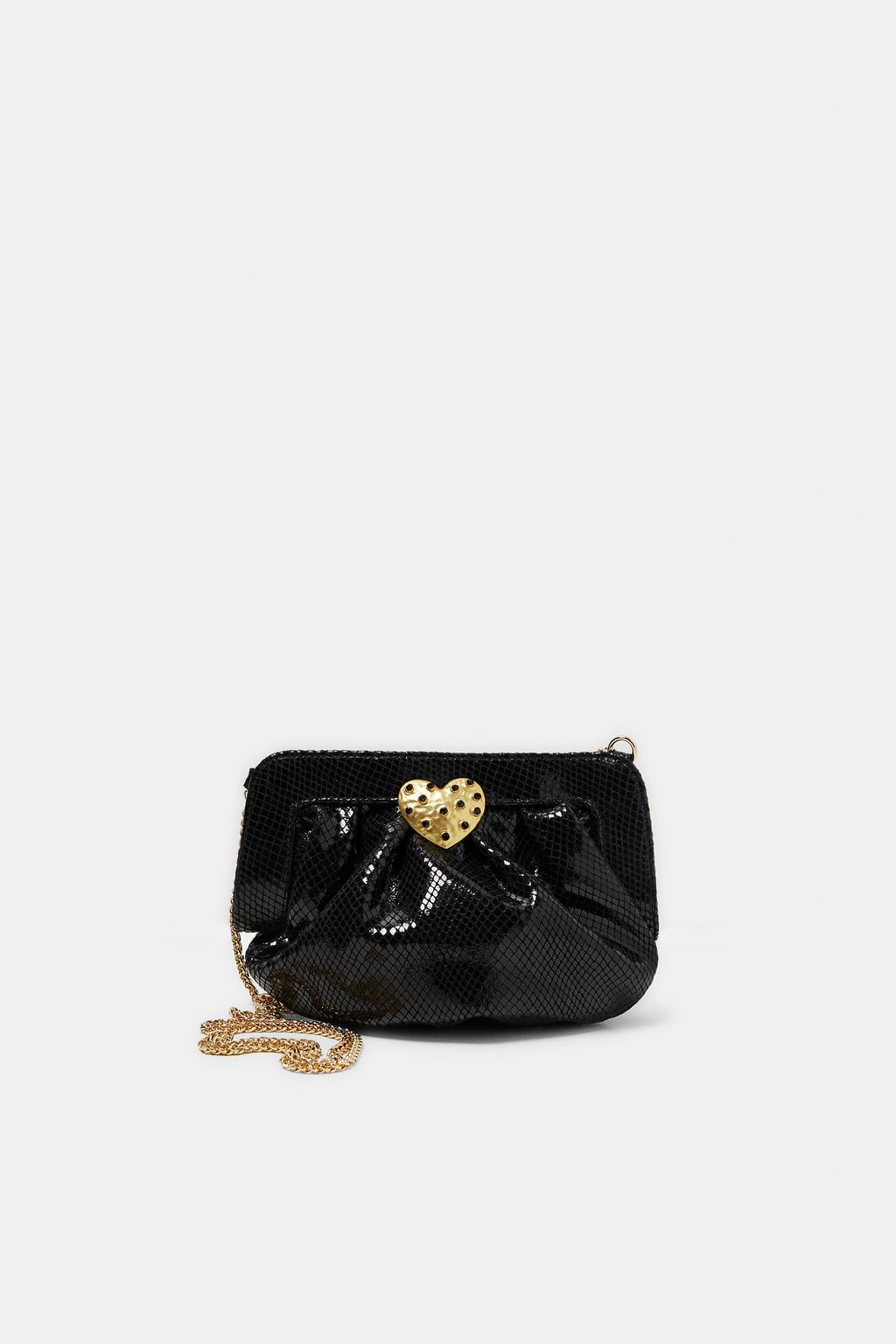 81a4dbf96 BOLSO PIEL GRABADO SERPIENTE   Zara   Bags, Leather Bag och Snake skin
