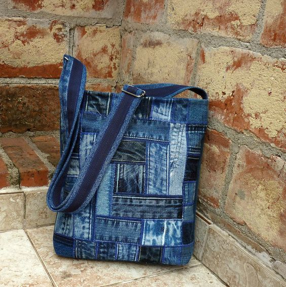 Photo of 30 variants of bags made from old jeans   PicturesCrafts.com