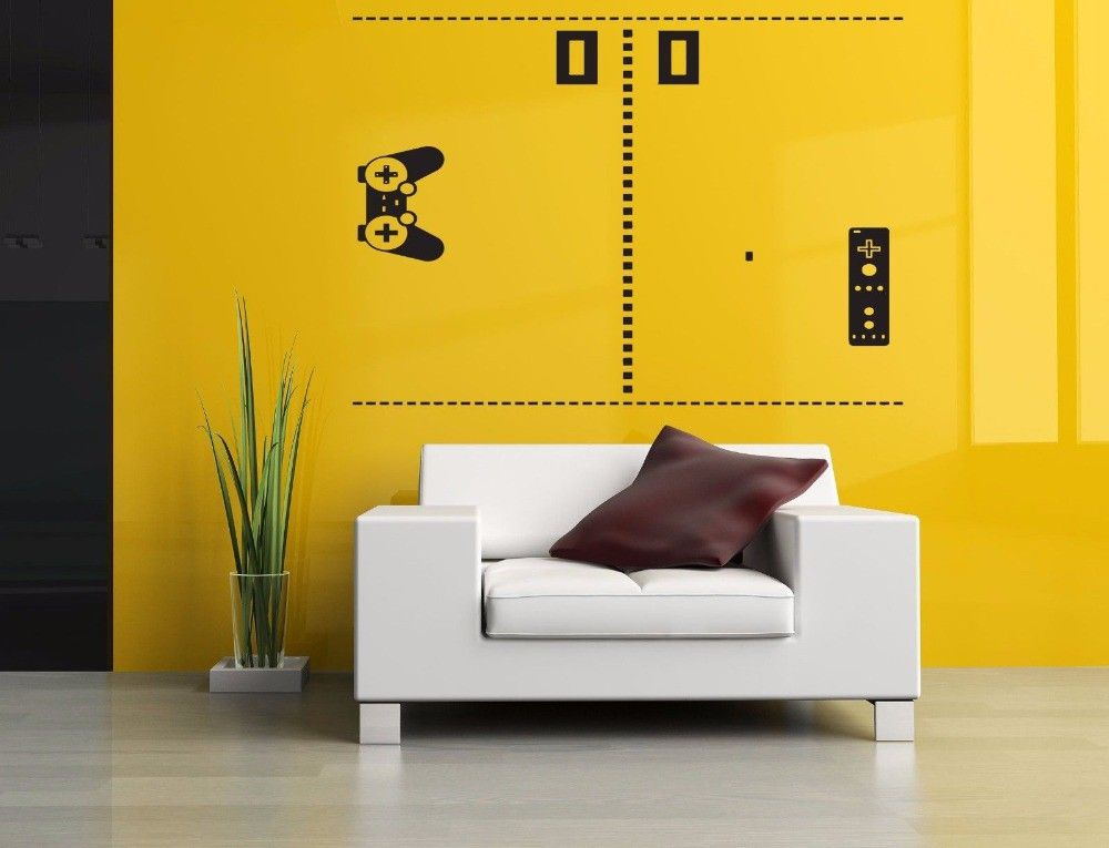 Retro Video Game Wall Sticker Home Decor Vinyl Decals Removable ...