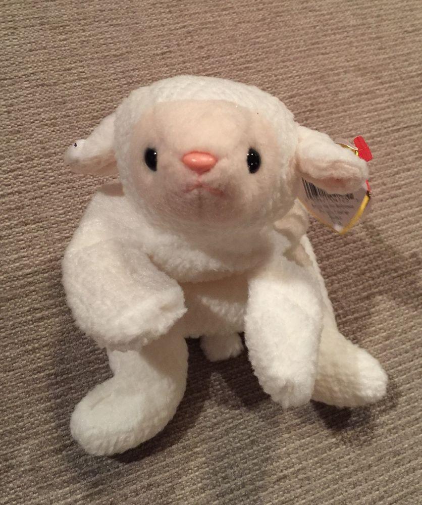 Rare VTG Fleece PVC Tag Errors TY Beanie Baby Plush Stuffed Animal Retired Lamb