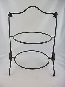 Longaberger Wrought Iron Pie Plate 2 Tier Stand  sc 1 st  Pinterest & Longaberger Wrought Iron Pie Plate 2 Tier Stand | Tiered stand