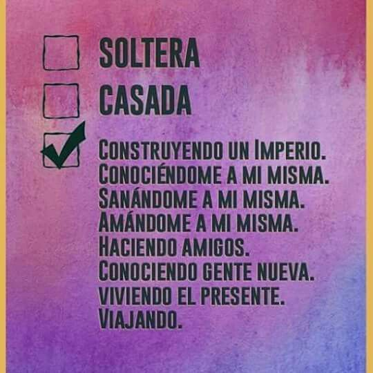 mujer soltera e independiente