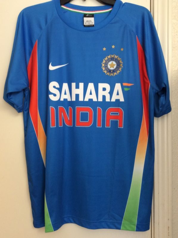 India Nike Cricket Sahara 2011 World Cup Winners Rare Authentic Jersey Size Xxl Mens Tops Cricket Store World Cup Winners