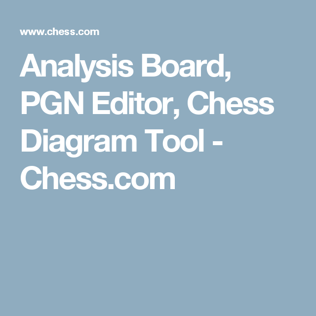 Analysis Board Pgn Editor Chess Diagram Tool Chess Chess