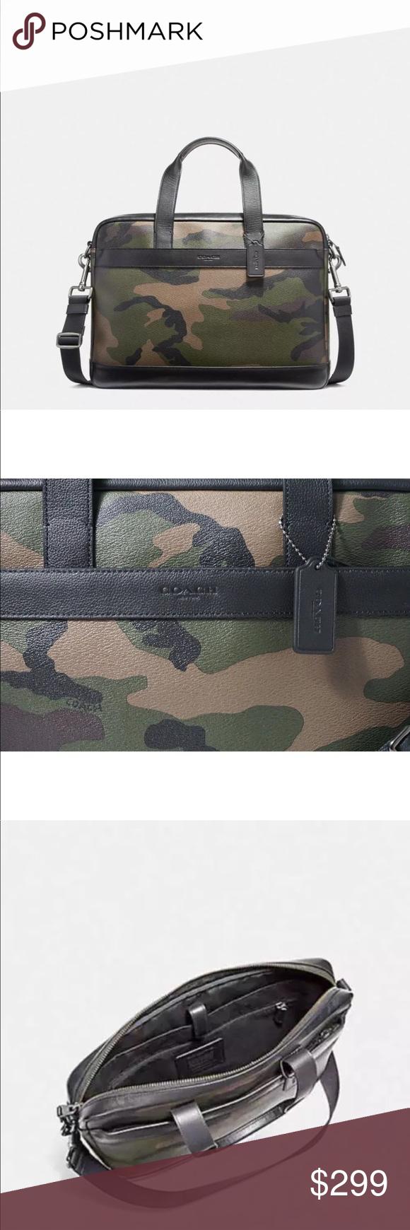 Coach Men's Hamilton Camo Print Briefcase Bag F59896
