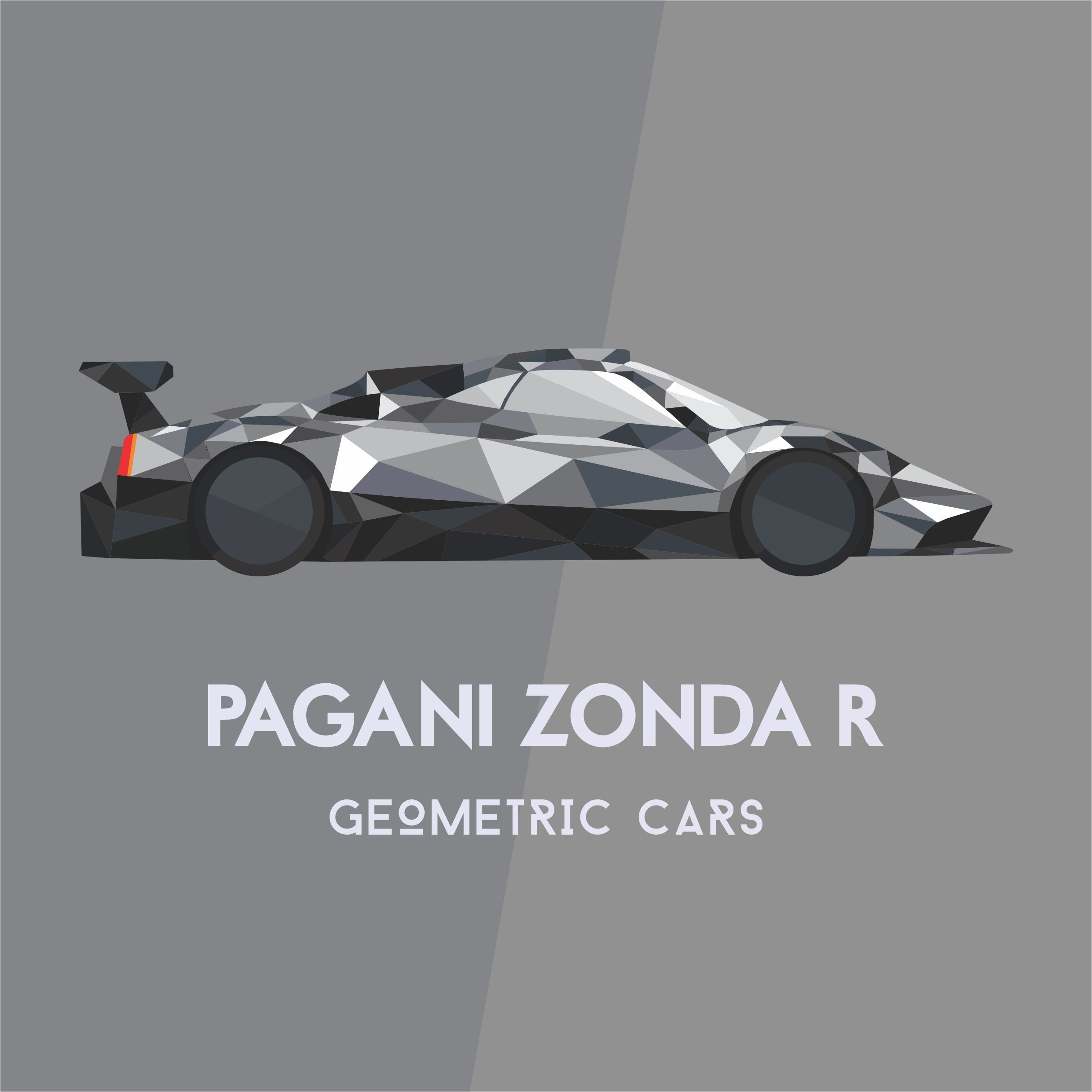 Pagani zonda r geometric car collection illustrations pagani zonda r geometric car collection biocorpaavc Images