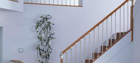 Supplying Stair Parts, Balustrades   In Metal, Darkwood