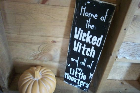 Halloween SignTypographyHome of The Wicked by ChantelMartinDesigns