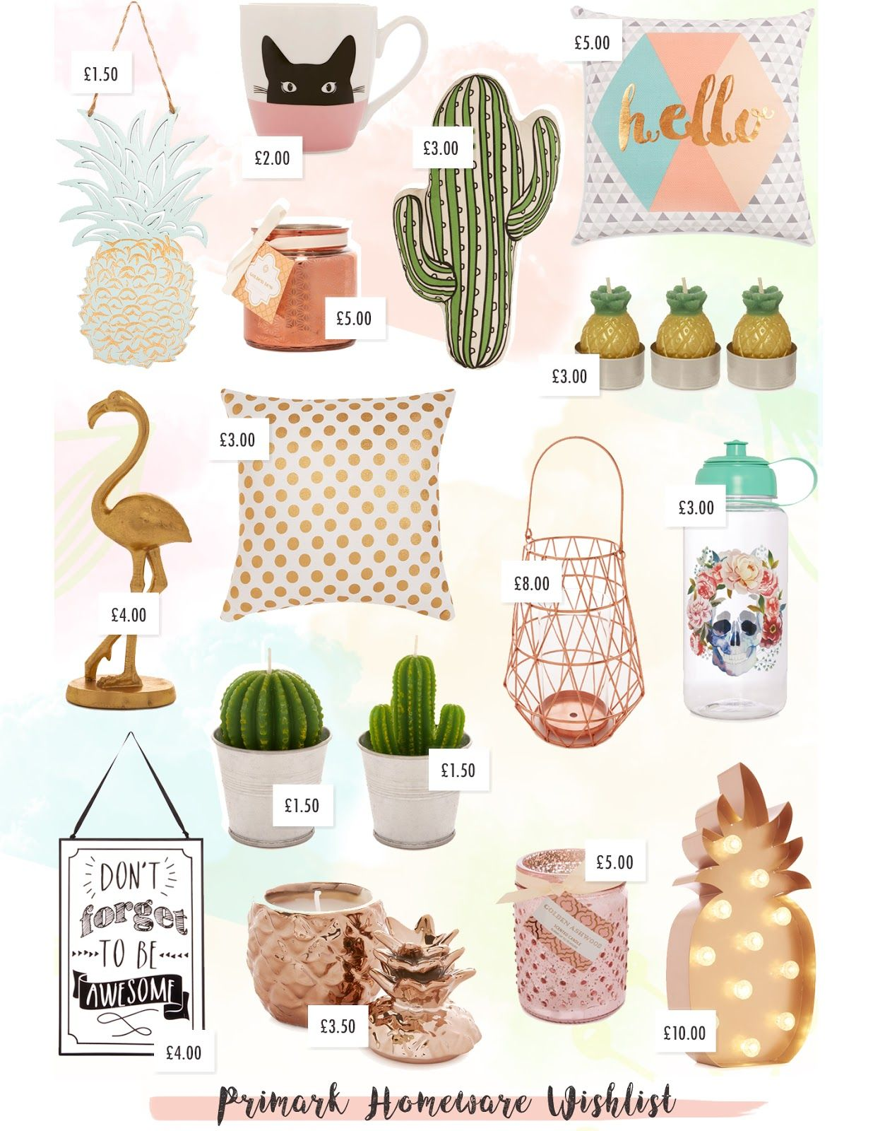 primark homeware wishlist | primark and bedrooms