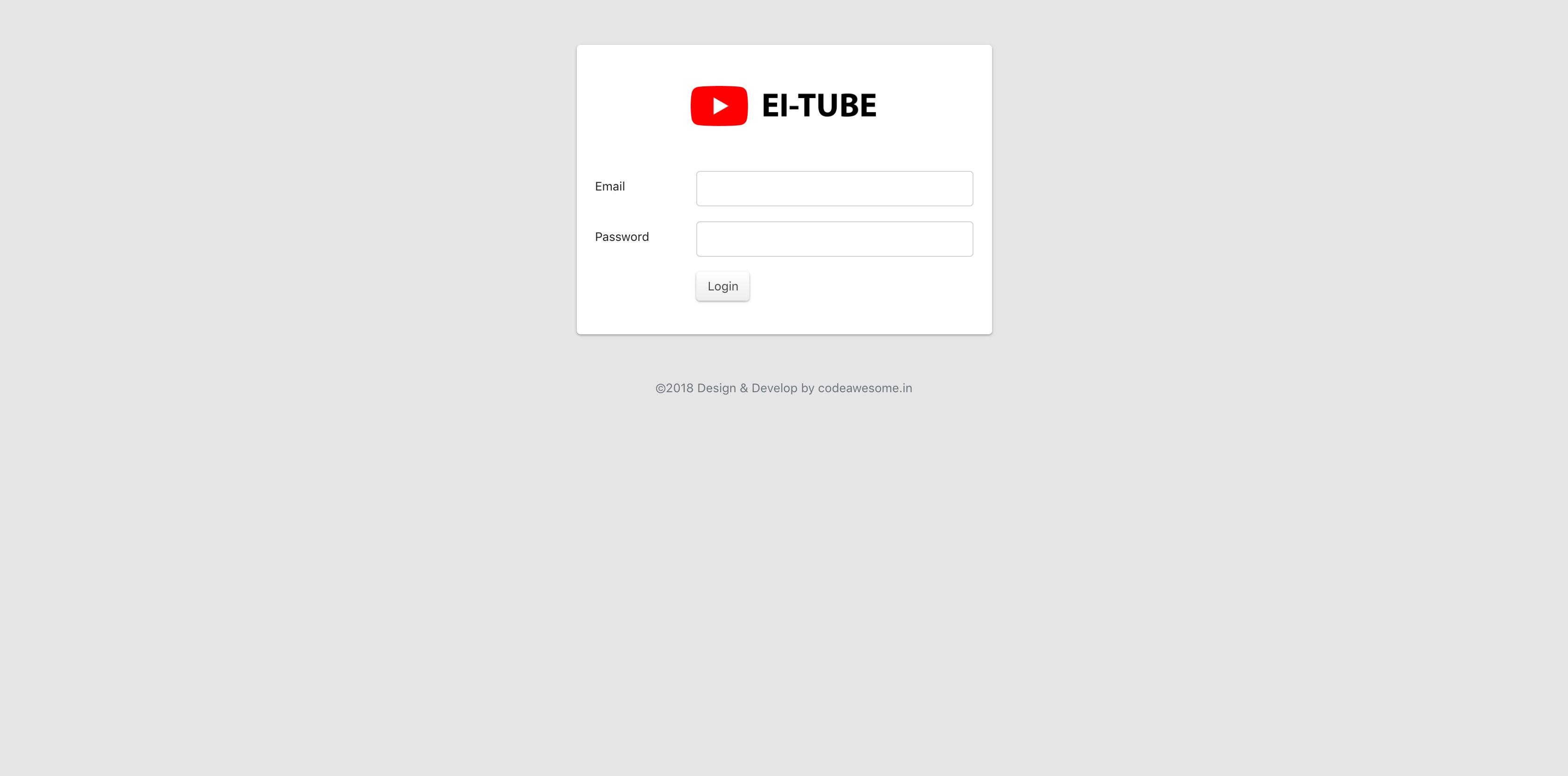 EI-Tube - YouTube API V3 site builder | Vendor Job | Tube