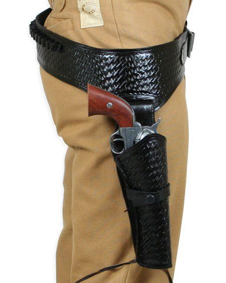 44 45 cal western gun belt and holster rh draw