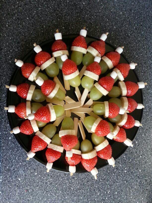 HAPJE IDEE druif - banaan - aardbei - mini marshmallow #marshmallows