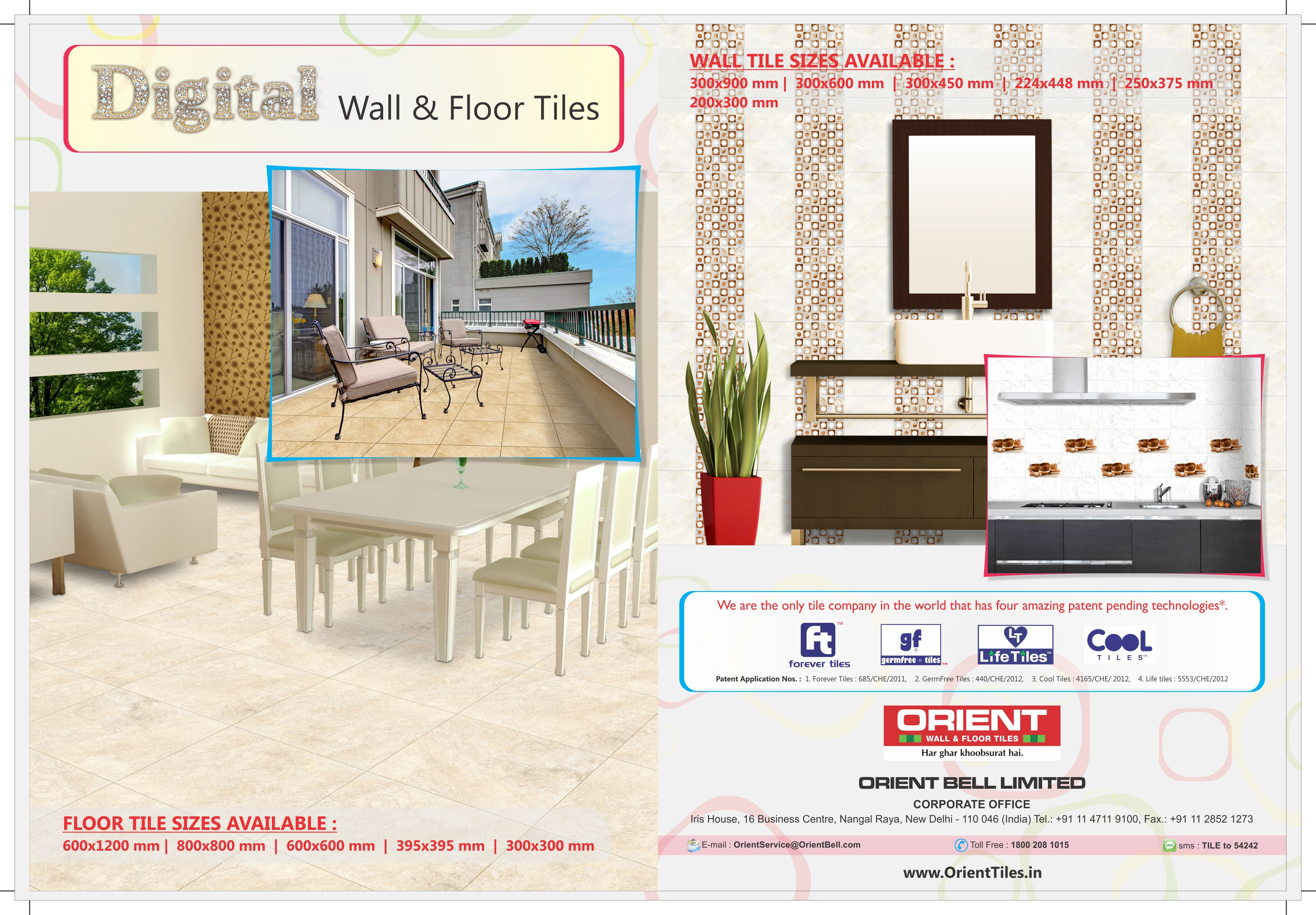 We Are The Only Tile Company In The World That Has Four Amazing Patend Pending Technologies For More Info Floor Tile Design Wall And Floor Tiles Tile Design