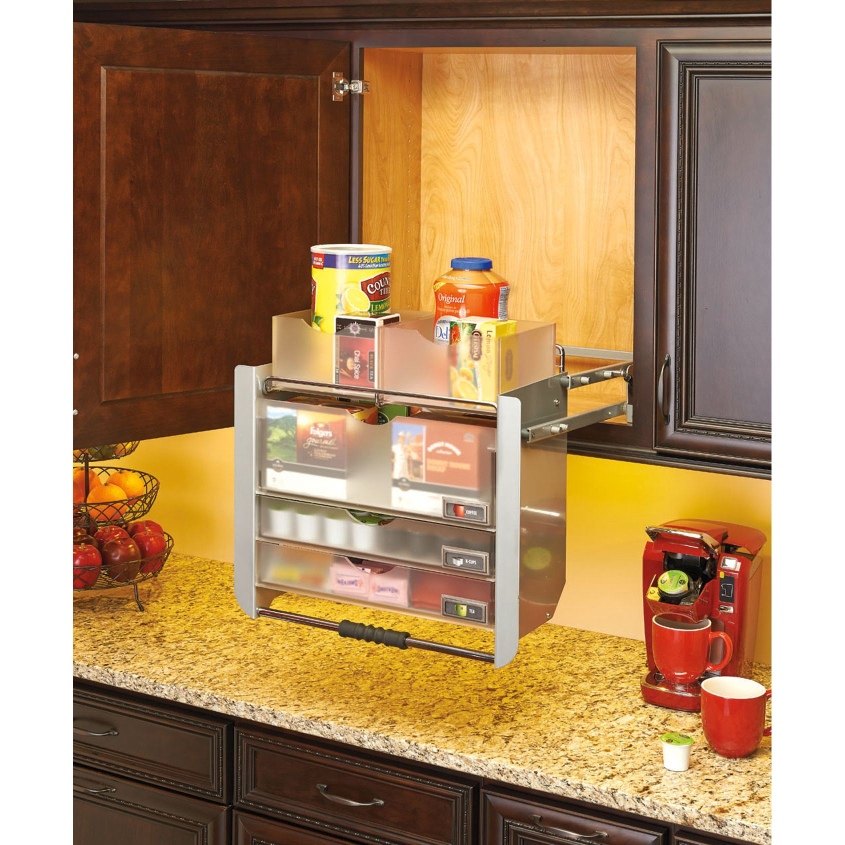 Kitchen Cabinet Pull Down Shelves Part - 29: Rev-A-Shelf Universal Wall Cabinet Pull-Down Shelving System