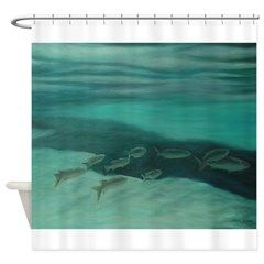 FISH OF SALT SPRINGS,FLORIDA Shower Curtain