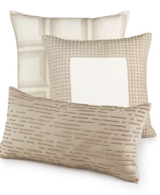CLOSEOUT Modern Eyelet Bedding Collection Created For Macy's Impressive Hotel Collection Decorative Pillows