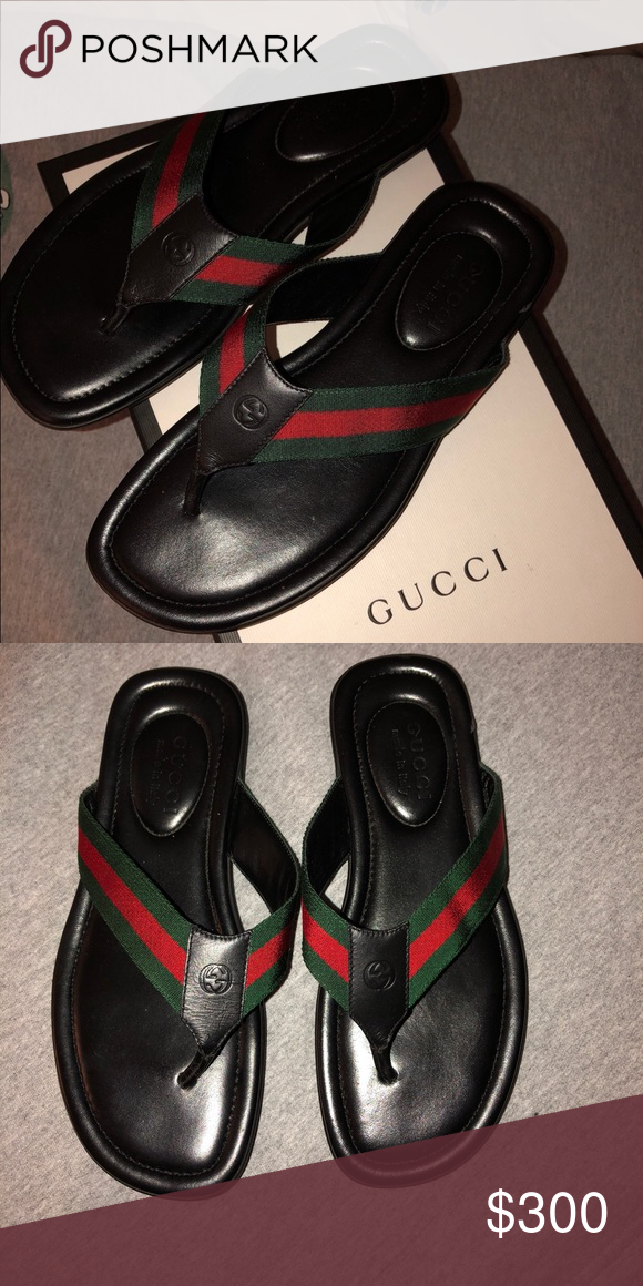 b52e6dee463 Gucci thong sandals Size 6 men's (women's 7.5) Perfect for vacation ...