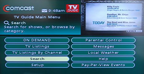 Comcast Cable Tv Guide Main Menu Jpg Comcast Cable Music Channel Tv Guide
