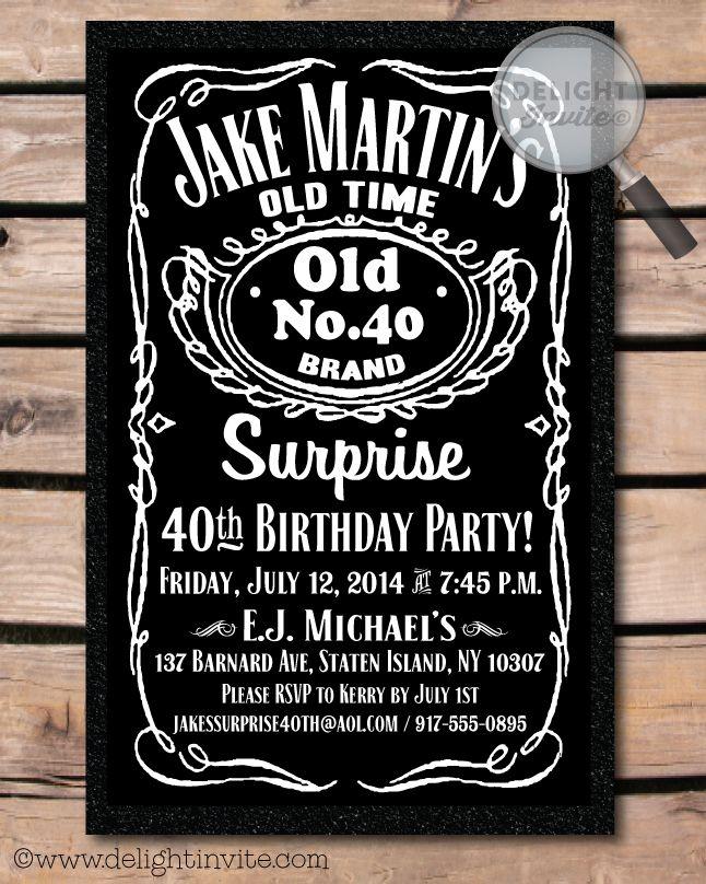Over The Hill 40th Birthday Party Invitation DI 551 Custom Invitations And Announcements For All Occasions By Delight Invite